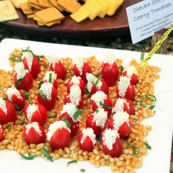 Goat Cheese and Mint Stuffed Cherry Tomatoes - 52 Church Potluck Appetizers