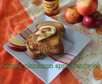 Apple cinnamon sandwich with brown bread/Easy sandwich recipes for break fast/No butter sandwich for dieters/step by step pictures