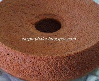 湿润巧克力戚风蛋糕 Moist Chocolate Chiffon Cake