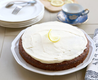 Banana Cake with Lemon Cream Cheese Icing