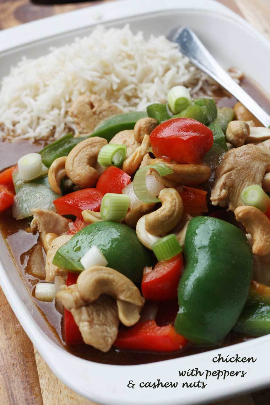 'Better-than-a-takeaway' chicken with peppers & cashew nuts