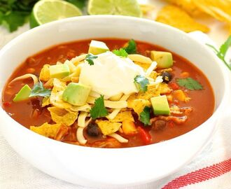 Express Taco Soup with Pulled Pork