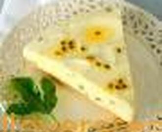 GRANADILLA AND LEMON FRIDGE TART
