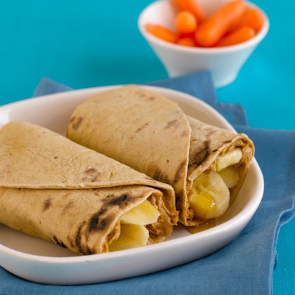 NO COOK RECIPE: Banana-Nut Elvis Wrap