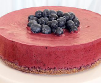 Blaubeer No Bake Cheesecake