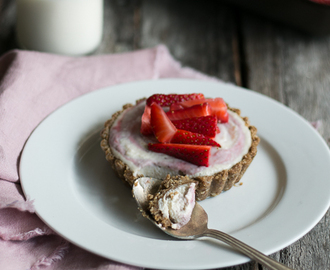 Strawberries and Dairy Free Cream Tarts