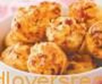 CHEESE AND CHUTNEY MINI MUFFINS