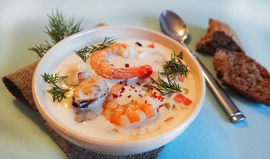 Ирландский суп чаудер с морепродуктами (Irish Seafood Chowder)