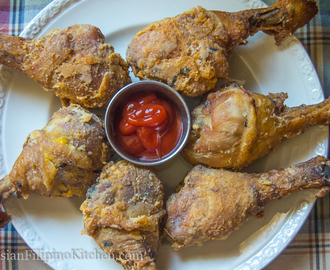 Fried Chicken Drumsticks Filipino-style