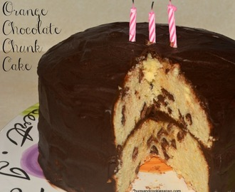 Orange Chocolate Chunk Layer Cake