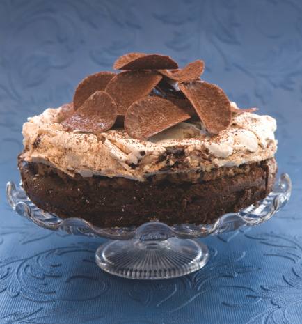 Father's Day Chocolate Meringue Crunch Cake