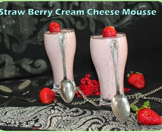 Strawberry cream cheese mousse/ Strawberry mousse with 4 ingredients/ Easy no bake strawberry mousse/Step by step pictures/ quick and easy strawberry recipes/cream cheese recipes