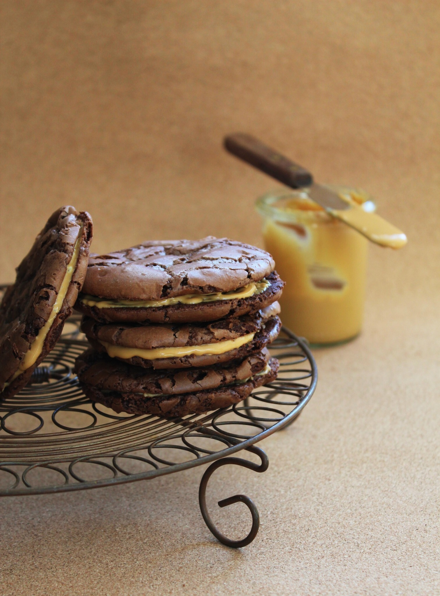 OTT chocolate brownie cookies (with caramelised white chocolate)
