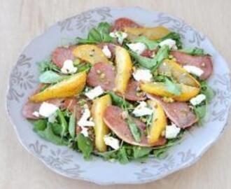Pear, Bacon and Goat's Cheese Salad
