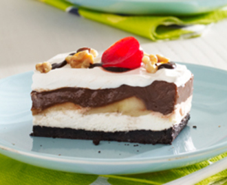 Chocolate Banana Split Ice Cream Cake Dessert Recipe