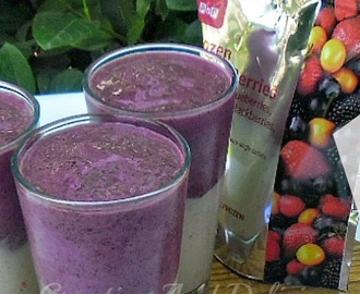 Layered Breakfast Berry Smoothie