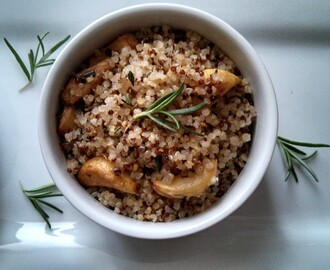 "Roasted Garlic and Herb Quinoa ""Fried Rice"""