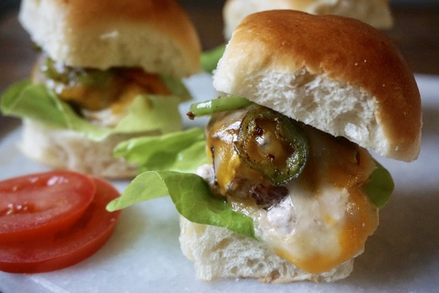 Stuffed Jalapeño Popper Sliders