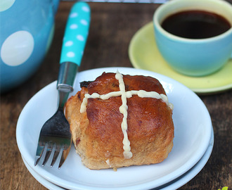 Dates and Orange Peel Hot Cross Buns