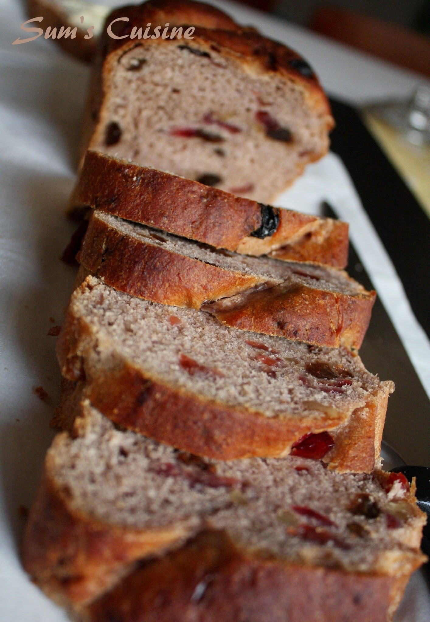Cranberry Walnut Bread - From The Bread Bible