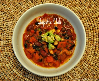 Meatless Monday: 3 Bean Chipotle Chili