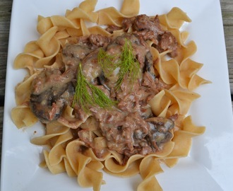 Crock Pot  Real Beef Stroganoff (with NO cream soup!)