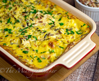 Easy Creamy Chicken and Wild Rice Casserole