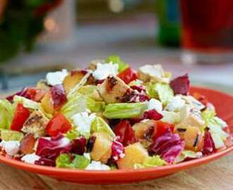 Grilled Chicken & Nectarine Chopped Salad