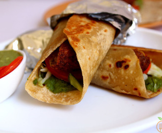 Vegan Falafel Wrap Recipe With Indian Touch