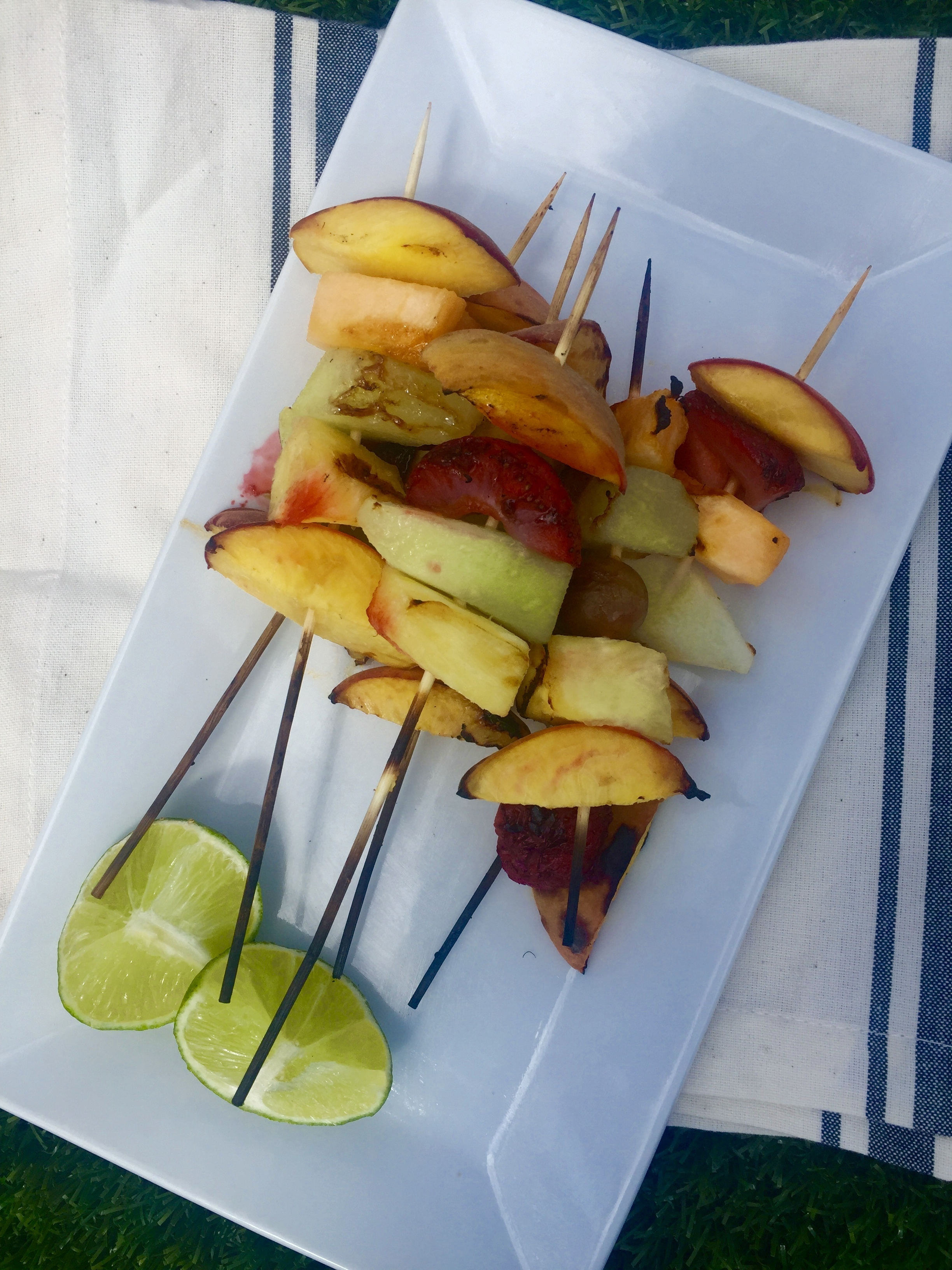 Snack Hacks: Grilled Fruit Kebobs