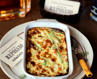Baked zucchini and crab omelette (カニとズッキーニのふわふわオムレツ)