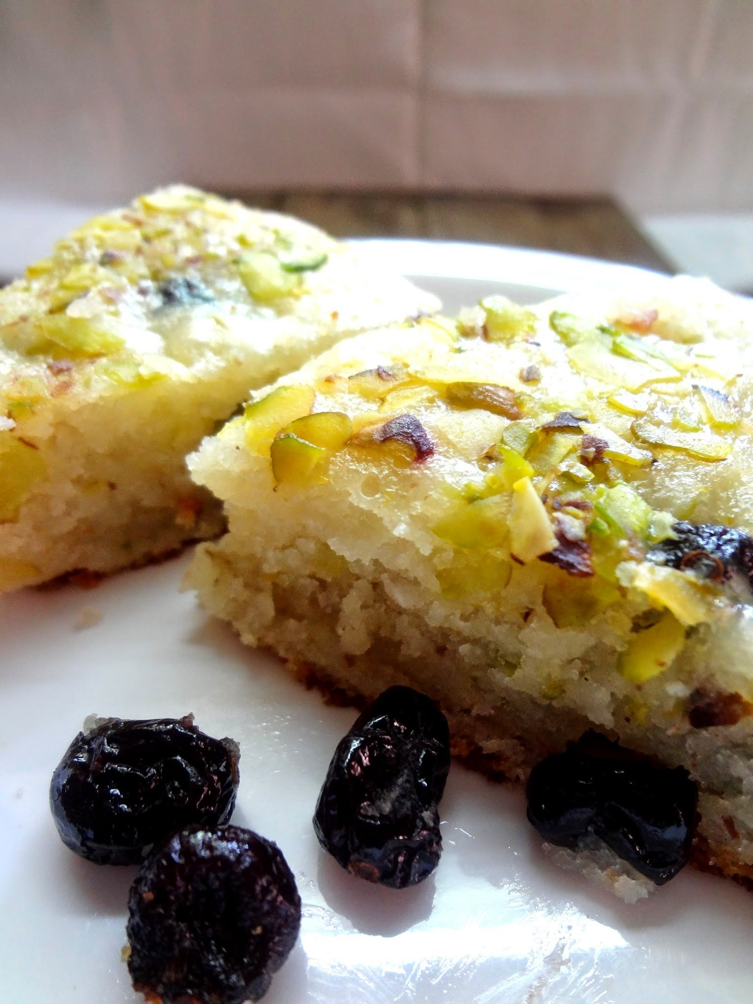Blueberry Lime cake ( Eggless )