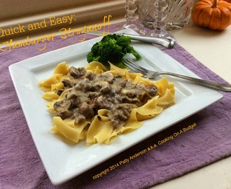 Quick and Easy: Hamburger Stroganoff