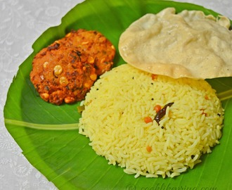 South Indian Lemon Rice | Nimmakaya Pulihora