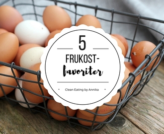 5 frukost-favoriter, clean eating, paleo, lchf