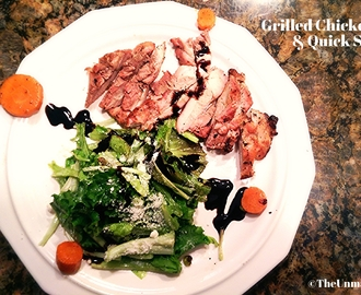 Grilled Chicken Thigh & Quick Salad