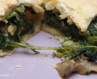 Spinach, Mushroom and Coconut Pasties