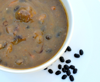 Winter Black Bean and Beef soup