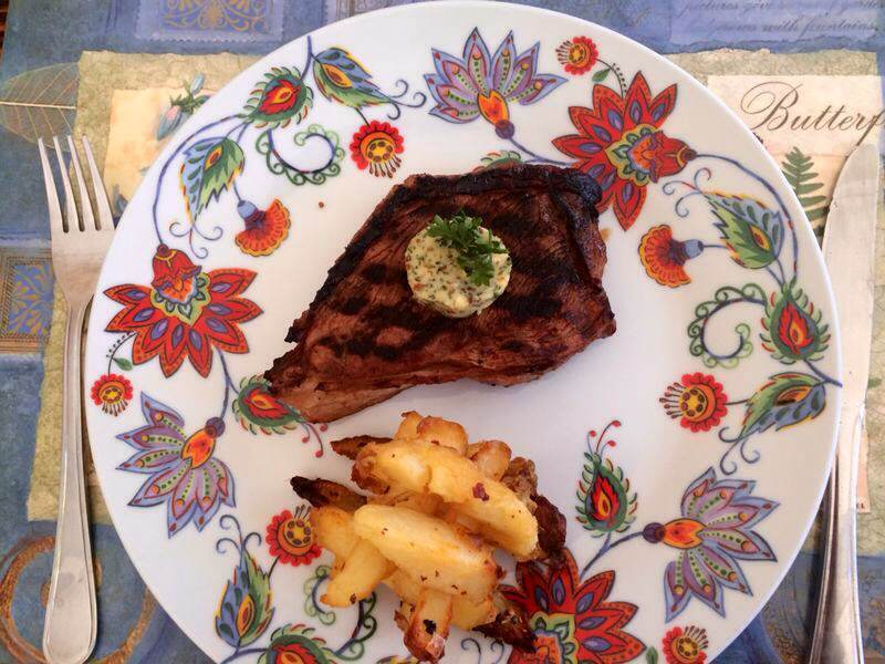 Garlic & Herb Butter with Orange-Infused Rump Steak