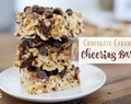 Chocolate Caramel Cheerios Bars