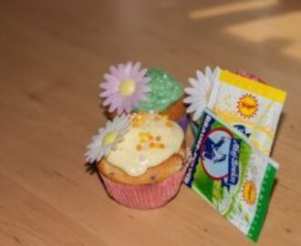Zitronen Cupcakes mit Brause Topping