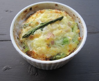 Goat Cheese-Asparagus Crustless Quiche