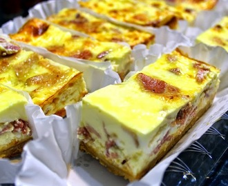 BACON CHEESECAKE CASSEROLE for a CROWD (Quiche Lorraine) - 52 Church PotLuck Breakfast