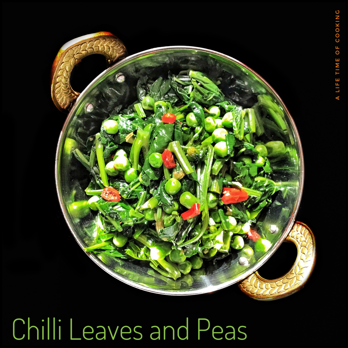 Chilli Leaves with Peas