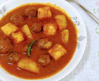 POTATO PANEER N MUSHROOM CURRY