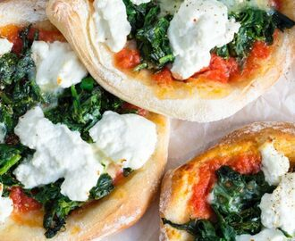 Spinat Ricotta Mini Pizzen