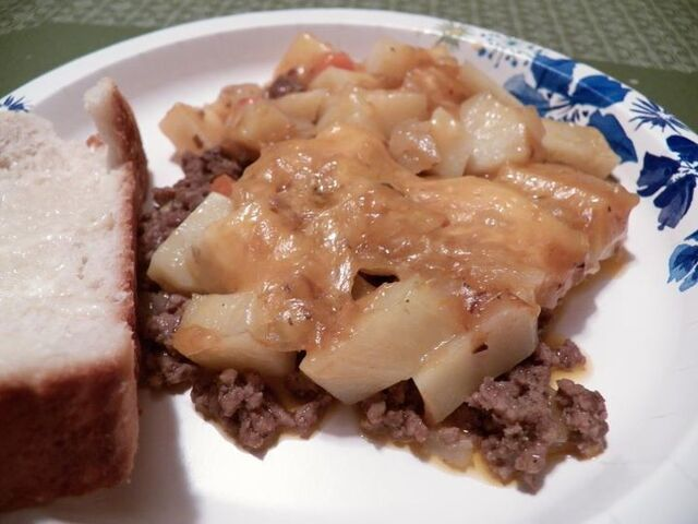 Amish  Classic: Poor Man's Simple Stove-Top Skillet Casserole