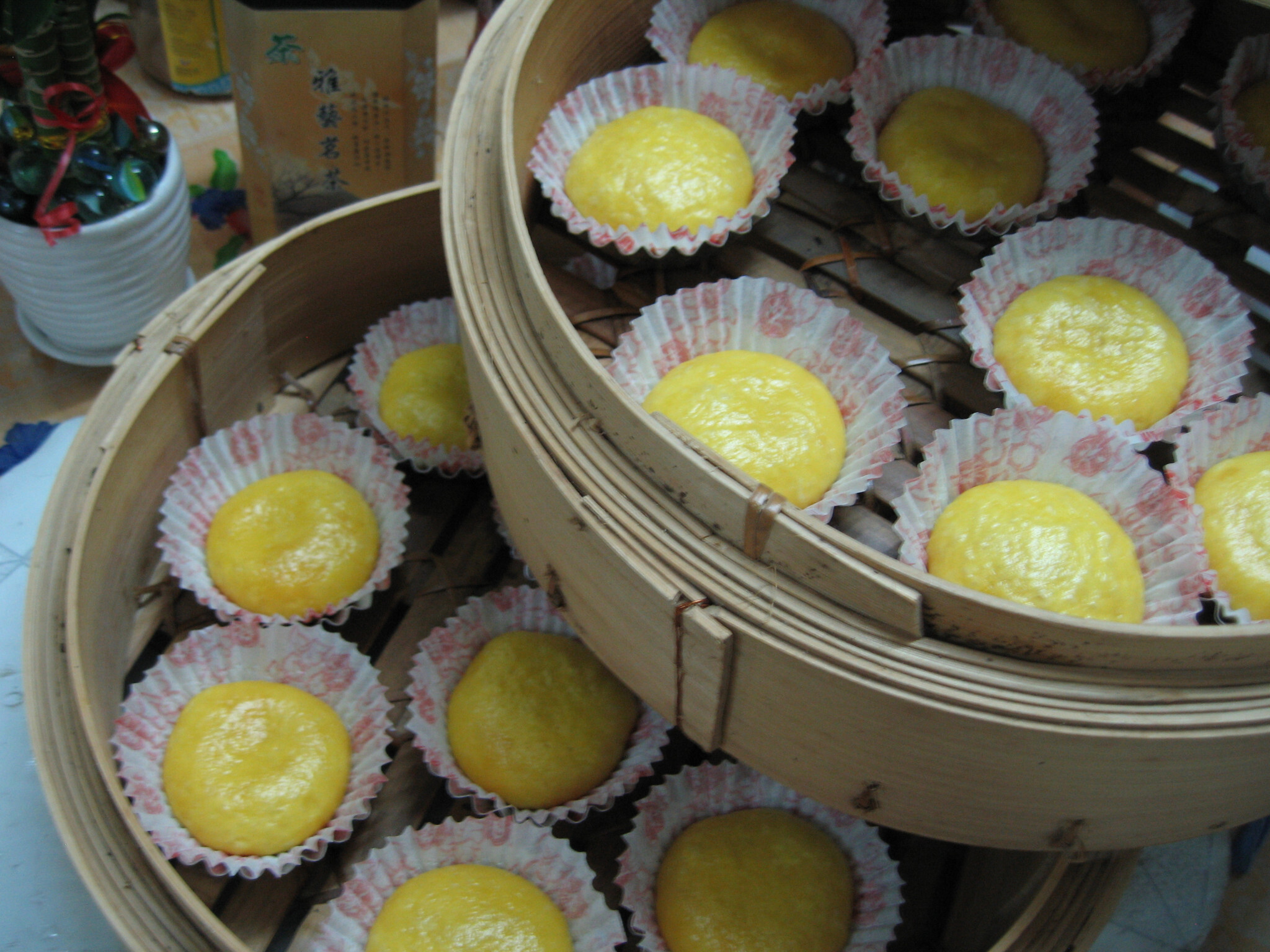 Steamed Pau With Salted Egg Yolk Lava 流沙包