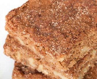 Cinnamon Walnut Cake Bars (whole grain)