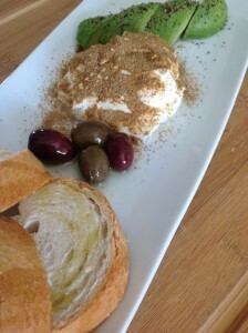 Tuna and Hummus with Zaatar